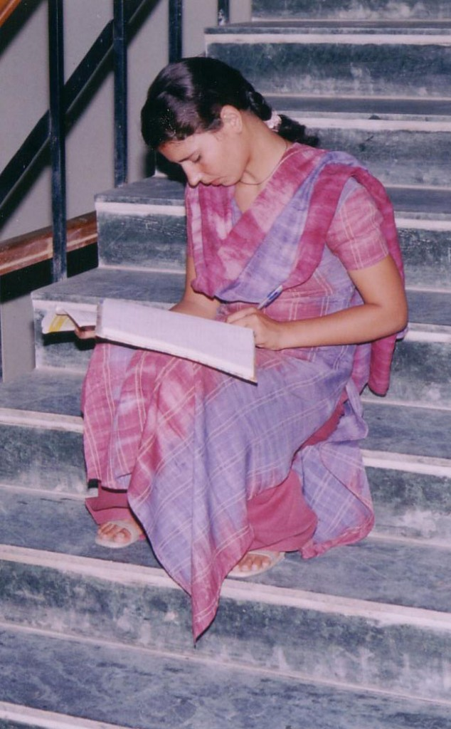 Student at Helena Kaushik College forWomen in Delhi, India