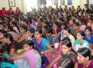 Students at Mrs. Helena Kaushik Women's College