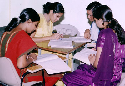 Study Group in Indian girls' college